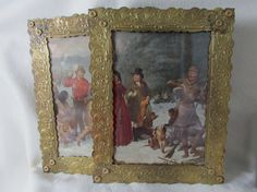 SOLD....Lovely Pair of Large Art Nouveau Picture Frames, Mirror Frames