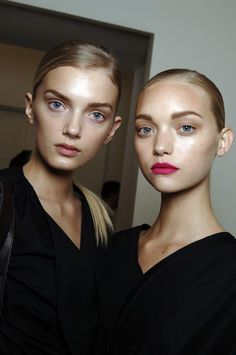 Gemma Ward and Lily Donaldson at Prada Spring 2006 _