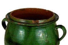 Antique French Green Glazed Confit Pot. Antique by LeBonheurDuJour