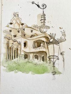 Sketch Book, Watercolor Paintings, Painting, Art, Dibujo