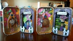 Doorway to Fairyland! By Kae. Cork Art, Artist Trading Cards, Fairy Land, Tim Burton, Doorway, Tins, Minions, Lunch Box, Miniatures