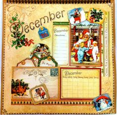Place in Time Calendar-December by Vickie Doswell #graphic45 #layouts