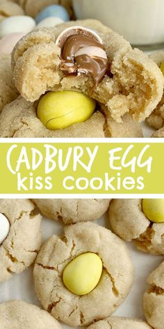 Cadbury Egg Kiss Cookies Kiss Cookies Cadbury Mini Eggs Easter Recipe Cadbury Egg Kiss Cookies are a fun way to celebrate spring and Easter Soft thick peanut butter c. No Egg Cookies, Kiss Cookies, Easter Cookies, Peanut Butter Cookies, Cadbury Cookies, Peanut Butter Eggs, Cookies Soft, Fun Cookies, Desserts Ostern