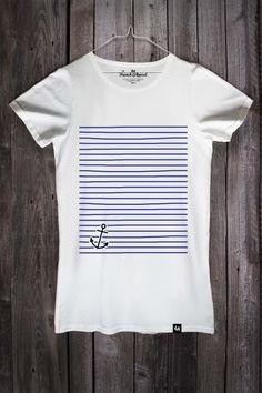 T-shirt homme à rayures tee bleu marine noir Indie Mod Preppy Vintage Nautique Marin