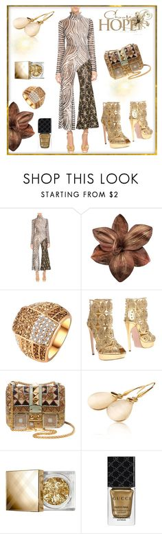 """""""Untitled #3372"""" by freida-adams ❤ liked on Polyvore featuring Halpern, Alexander McQueen, Valentino, Burberry and Gucci"""