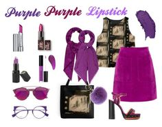 Purple Purple Lipstick by lydia-quinones on Polyvore featuring beauty, By Terry, Laura Mercier, Mia Bellezza, Barry M, Christian Dior, Louis Vuitton, Fendi, Gucci and L.K.Bennett