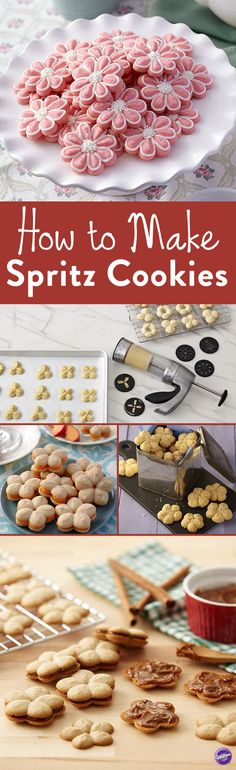 How to Make Spritz Cookies – Making traditional spritz cookies has never been so easy! Wilton's Cookie Pro Ultra II Cookie Press is designed to be the easiest to fill, most comfortable press you've ever used. With 16 discs to make a variety of cookies, an ergonomic, soft-grip trigger and a non-slip bottom ring, you are sure to get the perfect cookies for every occasion.