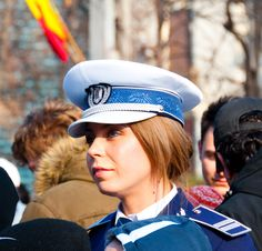 Romanian woman police officer