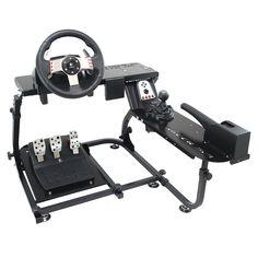 Ionrax E Brakes Racing Simulator Cockpit for Logitech Flight Simulator Cockpit, Racing Simulator, Computer Gaming Room, Gaming Room Setup, Arduino, Game Remote, Videogames, Logitech, Gaming Station