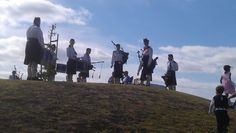 NEW ZEALAND BAGPIPERS - One cool moment was on the last hill of the Fruitloop event. We could hear bagpipe music at a distance, rounded a corner and perched on the hilltop were bagpipers in full costume serenading us to the Finish Line. A scene out of a movie! More here...  http://www.matakanacountry.co.nz/markets-lodging-accommodations-auckland-coast-wine-country-hotels/2013/03/06/matakana-2013-fruitloop-run-walk-things-to-do-and-summer-events-in-matakana-wine-country-near-auckland-new-zeal...