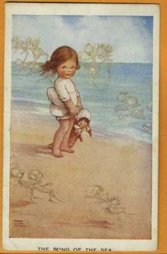 mabel lucie atwell....This is so my little Gianna at the beach with her baby.