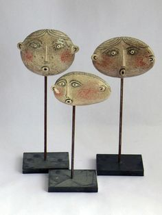Image gallery of Nottingham based ceramicist Guy Routledge Paper Mache Clay, Clay Art, Purple Home Decor, Ceramic Workshop, Guys And Dolls, Masks Art, Clay Figures, Sculpture Clay, Clay Projects