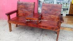 Transform Old Shipping Pallets into Creative Home Furnishings Diy Furniture Chair, Diy Chair, Pallet Furniture, Diy Pallet Sofa, Diy Pallet Projects, Pallet Bench, Pallet Ideas, Metal Projects, Balcony Table And Chairs