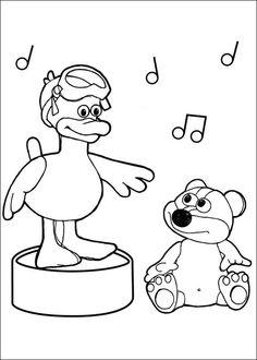Shaun the sheep Tegninger til Farvelægning. Printbare Farvelægning for børn. Tegninger til udskriv og farve nº 4
