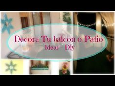 Decora tu Balcon o Patio - Ideas + Diy - YouTube