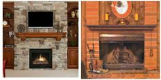 *Do you want an easy home improvement trick?*   Say no more! Fireplace mantel shelves are a great, affordable way to re-design your living room.  *Which one do you like best? The Stafford Fireplace Shelf (right) or the Hawthorne Fireplace Shelf (left)?*  http://www.brick-anew.com/fireplace-mantel-shelves.html  #mantel #mantelmakeover #manteldecor #fireplacemantels