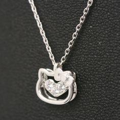 Sanrio Hello Kitty x Vibrate Open Face Necklace Pendant Swarovski Zirconia New |