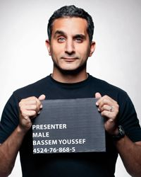 Bassem Youssef, a popular Egyptian prominent television news presenter and satirist, has been questioned by prosecutors over allegations that he insulted Islam and the country Jon Stewart, The Daily Show, Influential People, A Guy Who, Stressed Out, Famous Faces, Satire, Make Me Happy, Comedians