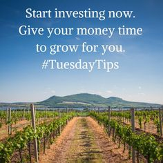 Start investing now. Give your money time to grow for you. #TuesdayTips  Not sure how? Join me for the Savvy Investor and learn to invest confidently and competently in 3 months! http://knowingyourworth.com/the-savvy-investor