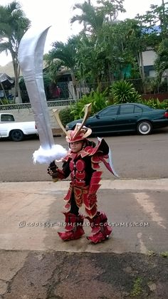 "Over-the-Top Homemade Samurai Costume by ""OCD"" Dad... Coolest Halloween Costume Contest"