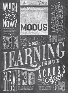 The chalkboard look is trendy now  Modus (UK) // magazine cover // via coverjunkie