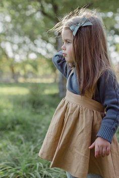 Fin & Vince Skirt in Camel Linen - Baby Girl & Toddler - Wild Ivy