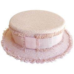 Chanel Pink Tweed Grosgrain Bow Trim Runway Chapeaux Hat