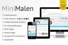 MiniMalen - Responsive HTML Template by Critical Gears on @creativemarket