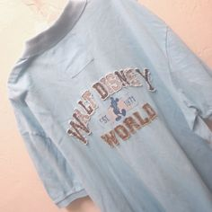 Vintage Walt Disney World WDW 1971 Mickey Mouse Polo Shirt Distressed Size XL #Disney #PoloRugby
