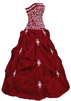 FairOnly Burgundy Evening/Homecoming Dress Formal Prom Gown Size:6 8 10 12 14 16