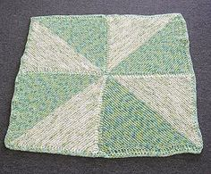 Puffin Pinwheel Baby Blanket - Crystal Palace Yarns - free knit baby blanket pattern