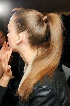 2014-2015 Saç Modelleri,Saç Renkleri: At Kuyruğu Modelleri