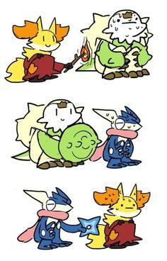 Pokemon, X and Y starters Mega Pokemon, Pokemon Comics, Pokemon Funny, Pokemon Memes, Pokemon Fan Art, Pokemon Stuff, Satoshi Pokemon, Manga, Cute Pokemon Pictures