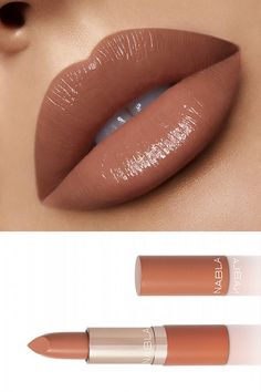 Get To Know The New Nabla Cosmetics Cutie Collection - BeautyVelle Peach Color Lipstick, Purple Lipstick Makeup, Lipstick For Dark Skin, Lipstick Art, Lipstick Colors, Lipsticks, Sexy Makeup, Gorgeous Makeup, Beauty Makeup