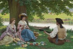 A PICNIC PARTY by EDMUND BLAIR LEIGHTON (BRITISH 1853 - 1922)