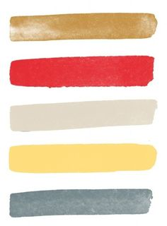 neutrals, gold, yellow and coral