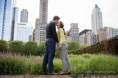 A kiss against the skyline.