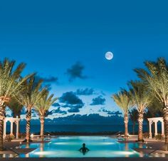 Evening sky at  The Breakers Palm Beach in Florida #travel