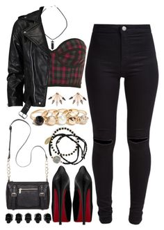 A fashion look from December 2015 featuring leather belts, slim jeans and black pumps. Browse and shop related looks. Grunge Outfits, Sexy Outfits, Bad Girl Outfits, Teen Fashion Outfits, Teenager Outfits, Cute Casual Outfits, Look Fashion, Outfits For Teens, Stylish Outfits