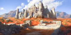 ruin in desert, Jung yeoll Kim on ArtStation at https://www.artstation.com/artwork/8EBAq