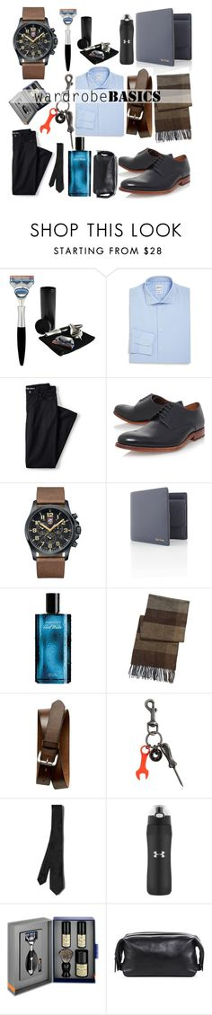 """""""Untitled #317"""" by flawless-willie ❤ liked on Polyvore featuring êShave, Armani Collezioni, Lands' End, Grenson, Luminox, Paul Smith, Davidoff, BLACK BROWN 1826, Banana Republic and Diesel"""