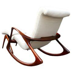 Vladimir Kagan Rocking Chair and Ottoman Circa 1950s