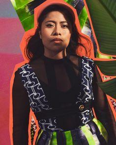 """Yalitza Aparicio shot by Carlos Serrao for Flaunt Magazine"" Hubble Studios, Flaunt Magazine, Prada, Daily Pictures, Beach Scenes, Best Actress, Pretty People, Latest Fashion Trends, Movie Stars"
