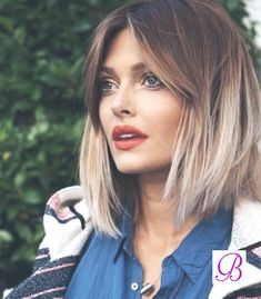 40 Blonde Ombre Hair Color Ideas in 2018 - Cool Global Hair Styles 2019 Bob Hairstyles 2018, Hairstyles With Bangs, Bride Hairstyles, Trendy Hairstyles, Medium Hair Styles, Short Hair Styles, Hair Medium, Corte Long Bob, Stylish Short Hair