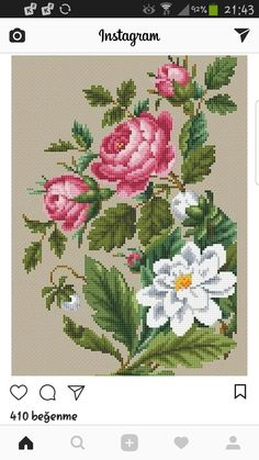 The most beautiful cross-stitch pattern - Knitting, Crochet Love Cross Stitch Letters, Cross Stitch Heart, Cross Stitch Cards, Cross Stitch Borders, Cross Stitch Samplers, Cross Stitch Flowers, Cross Stitch Designs, Cross Stitching, Cross Stitch Embroidery