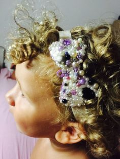 Fascia fucsia, fiocco, nastro capelli, baby, headband, bow, satin , ribbon,