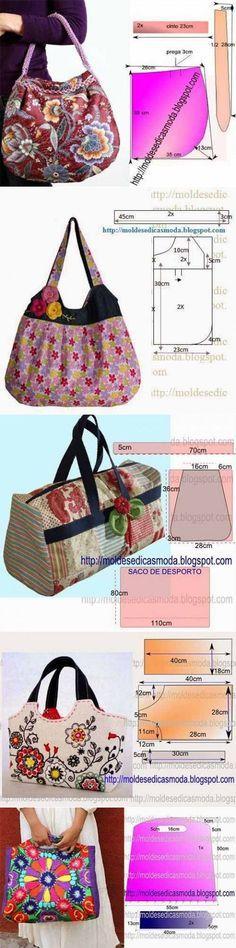 Выкройки для шитья симпатичных сумок | Искусница