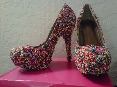Sprinkle In Time Shoes by LilMissKO on Etsy, $190.00