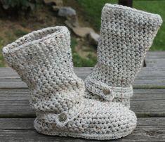 Ganchillo botas patrón---avena---Slouchy mediados por la calle---estilo Boho---botas instantánea descargar