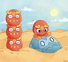 Wake up, I'm lonely by Amphany.deviantart.com on @deviantART (Darumaka & Darmanitan)